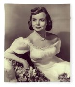 Meg Randall, Vintage Actress Fleece Blanket