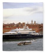Mega Luxury Yacht The Carinthia Vll In Venice, Italy Fleece Blanket