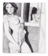 Megan-mirror Fleece Blanket
