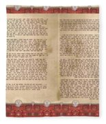 Meguilat Esther-esther Scroll The Whole Text Fleece Blanket