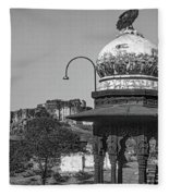 Mehrangarh Fort - Approach With Caution Bw Fleece Blanket