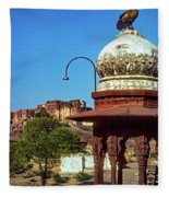 Mehrangarh Fort - Approach With Caution Fleece Blanket