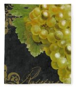 Melange Green Grapes Fleece Blanket