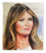 Melania Trump Fleece Blanket