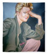 Melanie Griffith Fleece Blanket