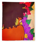 Melanin And Flowers Fleece Blanket