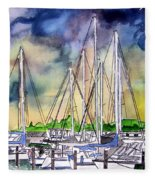 Melbourne Florida Marina Fleece Blanket