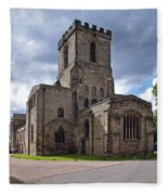 Melbourne Parish Church In Derbyshire Fleece Blanket