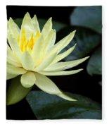 Mellow Yellow Water Lily Fleece Blanket