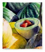 #18 Melons Plus Fleece Blanket