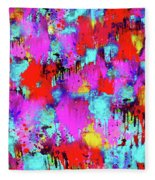 Melting Flowers Abstract  Fleece Blanket
