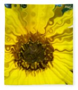 Melting Sunflower Fleece Blanket