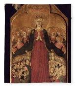 Memmi: Madonna In Heaven Fleece Blanket