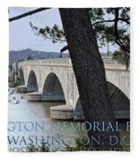 Memorial Bridge Fleece Blanket