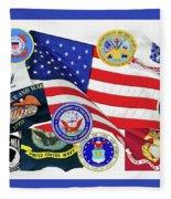 Memorial Day Collage Fleece Blanket