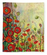 Memories Of Grandmother's Garden Fleece Blanket