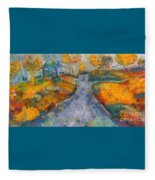 Memories Of Home In Autumn Fleece Blanket