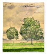 Memories Of The Lake Fleece Blanket