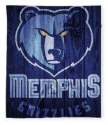Memphis Grizzlies Barn Door Fleece Blanket