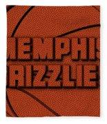 Memphis Grizzlies Leather Art Fleece Blanket