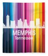 Memphis Tn 2 Squared Fleece Blanket
