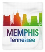 Memphis Tn Fleece Blanket