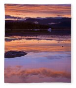 Mendenhall Sunset Fleece Blanket