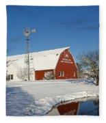 Menno Hof In The Snow 2 Fleece Blanket