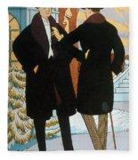 Mens Fashion, 1919 Fleece Blanket
