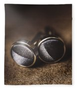 Mens Formalwear Cufflinks Fleece Blanket