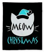 Meow Christmas Fleece Blanket