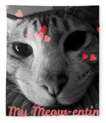 Meow-entine Fleece Blanket