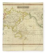 Mercator's Chart Fleece Blanket