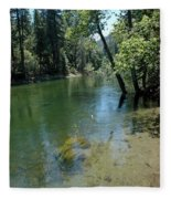 Merced River Banks Fleece Blanket