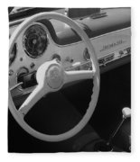 Mercedes 300sl Dashboard Fleece Blanket