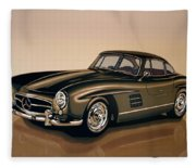 Mercedes Benz 300 Sl 1954 Painting Fleece Blanket