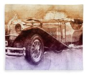 Mercedes-benz Ssk 2 - 1928 - Automotive Art - Car Posters Fleece Blanket