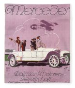 Mercedes Daimler C. 1910 Fleece Blanket