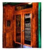 Merchants Cafe Doors Fleece Blanket