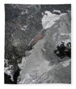 Mercurial Ice Abstract Fleece Blanket