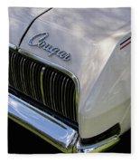 Mercury Cougar Xr7 Emblem Fleece Blanket