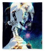 Merlin In The Cosmos Fleece Blanket