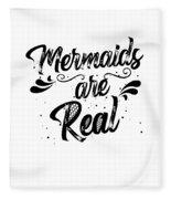 Mermaid Art Fleece Blanket