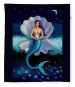 Mermaid Art- Mermaid's Pearl Fleece Blanket