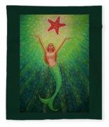 Mermaid Art- Mermaid's Starlight Fleece Blanket