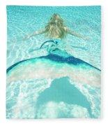 Mermaid Escape 2 Fleece Blanket