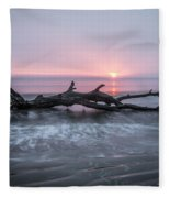 Mermaid In The Surf Fleece Blanket