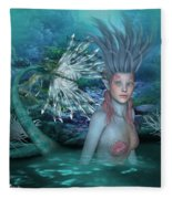 Mermaid Of The Deep Sea 2 Fleece Blanket