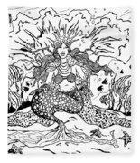 Mermaid Queen Fleece Blanket