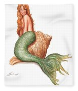 Mermaid Shell Fleece Blanket